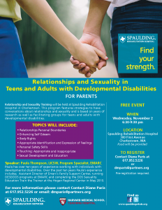 Relationship flyer - Parents
