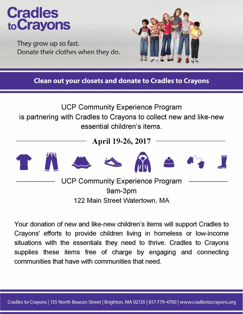 Cradles to Crayons Flyer