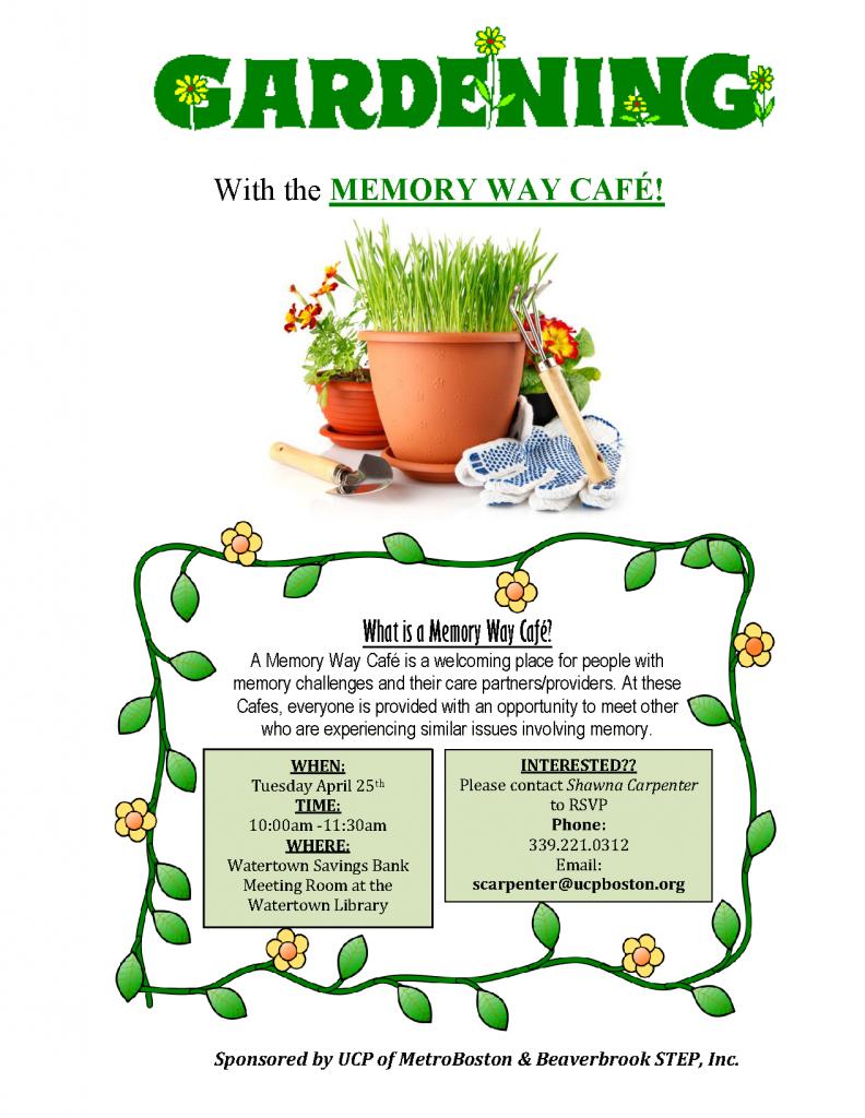 memory cafe spring flyer