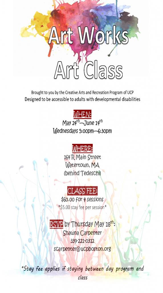 Art class 2017 flyer